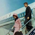 President John F. Kennedy and Jacqueline Bouvier Kennedy walked down the steps of Air Force One as they arrived at Love Field in Dallas less than an hour before the president was assassinated on Nov. 22, 1963.