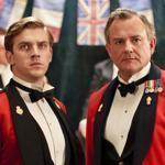 "Dan Stevens (left) as Matthew Crawley and Hugh Bonneville as Lord Grantham on ""Downton Abbey."" Crawley was one of two characters on the popular show who died."