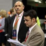 Mark Fisher is seen during the vote count at the state GOP convention.