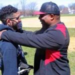 The BASE founder Robert Lewis Jr. had some advice for one of his students, Jose Arias, 20, at baseball practice recently.