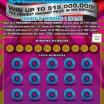 The Massachusetts state lottery's new $30 scratch ticket, called the World Class Millions game