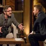"Marc Maron (left) with Chris Hardwick on ""Maron,"" which begins its second season on IFC Thursday night."