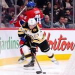 Brad Marchand moved the puck past P.K. Subban in Montreal on Dec. 5.