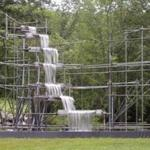 A waterfall made by Olafur Eliasson on display in Reading, Vt.