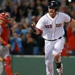 Will Middlebrooks was in no mood to hide his excitement after driving in the go-ahead run.