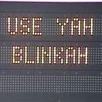 New messages appeared Friday morning on the state's electronic highway signs.