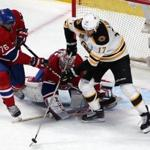Milan Lucic was under pressure in overtime in Game 4.