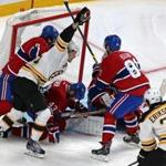 Matt Fraser reacted after scoring the winning goal for the Bruins in Game 4.