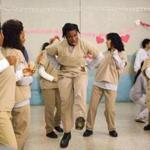 """Uzo Aduba (center) as Suzanne, also known as Crazy Eyes, on """"Orange Is the New Black."""""""