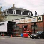 """The former, and famous, Triple O's Lounge in South Boston has been made over in Cambridge near Inman Square for the filming of the Whitey Bulger movie """"Black Mass."""""""