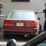 Brockton police investigated a vehicle suspected of being involved in a hit and run.
