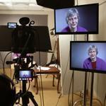 "Laurel Thatcher Ulrich, a Harvard historian, was filmed in the HarvardX studio for her class, ""Tangible Things."""