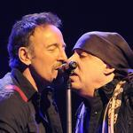 Bruce Springsteen (left) and Steven Van Zandt at Mohegan Sun Arena.