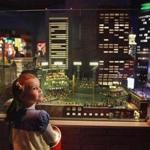 Kari Belson of Andover took in the sights of Legoland Discovery Center's Fenway Park.