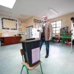 Sinn Fein's Party leader Gerry Adams voted for local and European Elections at Doolargy National School in Ravensdale, County Louth, Ireland, May 23. Adams was arrested earlier this year based on interviews reportedly given for the Boston College oral history project.