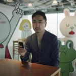 Takeshi Idezawa, chief operating officer of Line, a Toyko startup messaging service that uses stickers, social games, and even weather forecasts to enliven the experience.
