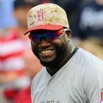 David Ortiz hit a three-run home run against the Braves in the fifth inning.