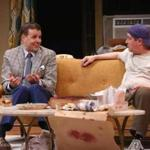 "Noah Racey, as neat-freak Felix, stars opposite Michael McGrath, as slobby pal Oscar, in the Cape Playhouse's production of ""The Odd Couple."""
