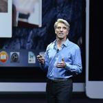 Apple executive Craig Federighi talked about some of the features in the new OSX Yosemiti operating system.