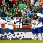 Bruno Alves of Portugal celebrated his goal against Mexico.