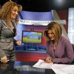 WUNI-TV news anchor Sara Suarez (right) and former reporter Cecy Gutierrez.