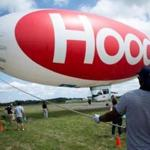 The Hood blimp prepared for takeoff from an airport in Danvers.