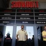 Security guards kept watch at the front doors as the Showboat casino in Atlantic City closed on Sunday.