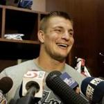 On Monday, Patriots tight end Rob Gronkowski was excited to announce he was ready to play against the Dolphins. (AP Photo/Stephan Savoia, File)