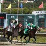 A race at Suffolk Downs on Wednesday