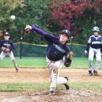 Myles Sargent of the Seacoast United Navy pitched during a game against the Seacoast United Carolina in Stratham, N.H.