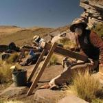 Researchers screened for artifacts in the Peruvian Andes.