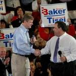Chris Christie campaigned with Charlie Baker in 2010.