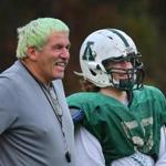 After a knee injury last year, Sam Malafonte has been a star for Abington head coach Jim Kelliher, who died his hair green last month.