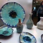 Pottery by Bob Kulchuk and paintings by Laurie Miller are on sale at Gallery 529 in Littleton.