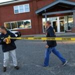 Federal agents secured the area outside the New England Compounding Center in 2012.