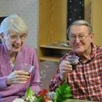 The Fahey family's 2012 Christmas Eve celebration at the Sachem Center rehabilitation facility featured a toast led by Rosemary Fahey and her husband, Tom.