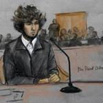 Dzhokhar Tsarnaev, as depicted during a Dec. 18 court hearing.