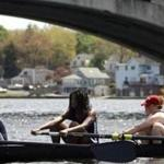 Rowers on Lake Quinsigamond.