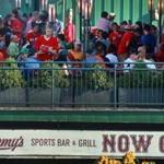 8/27/13: Boston, MA: A view of the outside back deck at Jerry Remy's as seen from inside Fenway Park. The Boston Red Sox hosted the Baltimore Orioles in an MLB regular season game at Fenway Park. (Jim Davis/Globe Staff) section:business topic:29remy