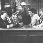 metr print scan/ March 31 Los Angelos. A. P. file photo. The last laugh. Norm George Wendt, left, made a call to his boss to quit his new job as