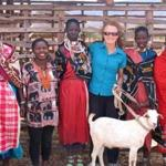 Thomson safaris owner, Judi Wineland, was honored with a goat for helping Maasai women in Tanzania.