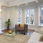 The living room of the Back Bay condo that sold recently for $7 million.