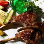 Lamb chops are among the cafe's popular grilled meats.
