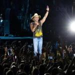 Foxborough, MA -- 08/28/15 -- Kenny Chesney performed during the Kenny Chesney's Big Revival Tour at Gillette Stadium on August 28, 2015, in Foxborough, Massachusetts. (Kayana Szymczak for the Boston Globe) FOR EDITORIAL USE ONLY NO FURTHER DISTRIBUTION BEYOND GLOBE BRAND. NO GETTY, NO SALES.