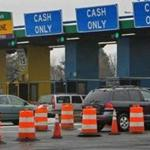 The Weston toll booths.