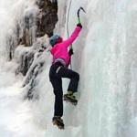 Dani Sadorf of San Diego in the Ouray Ice Park.
