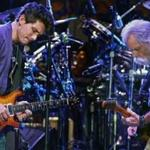 Dead & Company members John Mayer (left) and Bob Weir performing at the DCU Center in Worcester in 2015.