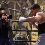 Emily Harney photographs boxer Mark DeLuca in South Boston.