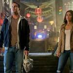 "From left:: Stephen Amell as Casey Jones and Megan Fox as April O'Neil in the 2016 film ""Teenage Mutant Ninja Turtles: Out of the Shadows."""