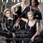 The 2016 Vanity Fair Hollywood Issue cover includes (from left) Jane Fonda, Cate Blanchett. Viola Davis, and Jennifer Lawrence.